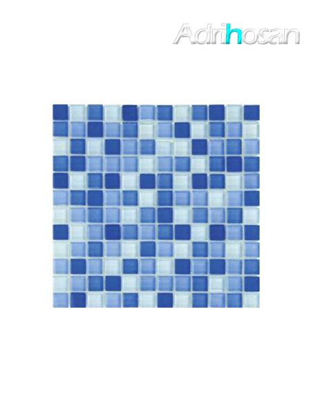 Malla de cristal Murano azul 30x30 cm (venta por mallas)