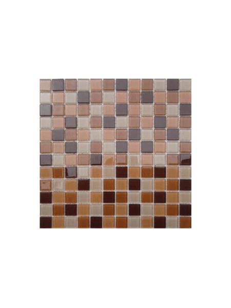 Malla de cristal Murano beige 30x30 cm. Malla de cristal de vivos colores para realizar decoraciones espectaculares en baños o cocinas.