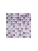 Malla de cristal Murano lila 30x30 cm. Malla de cristal de vivos colores para realizar decoraciones espectaculares en baños o cocinas.