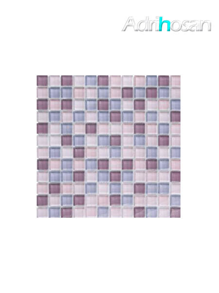 Malla de cristal Murano lila 30x30 cm (venta por mallas)