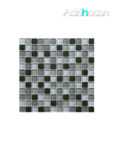 Malla de cristal Murano negro 30x30 cm (venta por mallas)