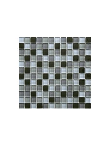 Malla de cristal Murano negro 30x30 cm. Malla de cristal de vivos colores para realizar decoraciones espectaculares en baños o cocinas.