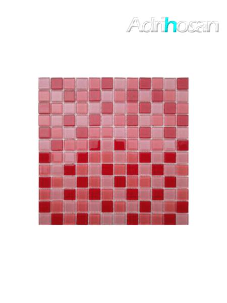 Malla de cristal Murano rojo 30x30 cm (venta por mallas)