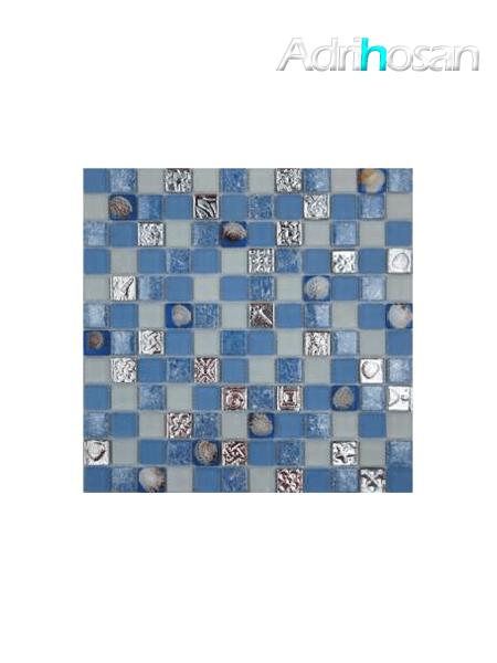 Malla de cristal Ocean celeste 30x30 cm (venta por mallas)