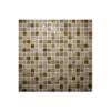 Malla de mármol y cristal Iris beige 30x30 cm. Malla de cristal y mármol natural para realizar decoraciones espectaculares en baños o cocinas.