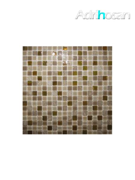 Malla de mármol y cristal Iris beige 30x30 cm (venta por mallas)