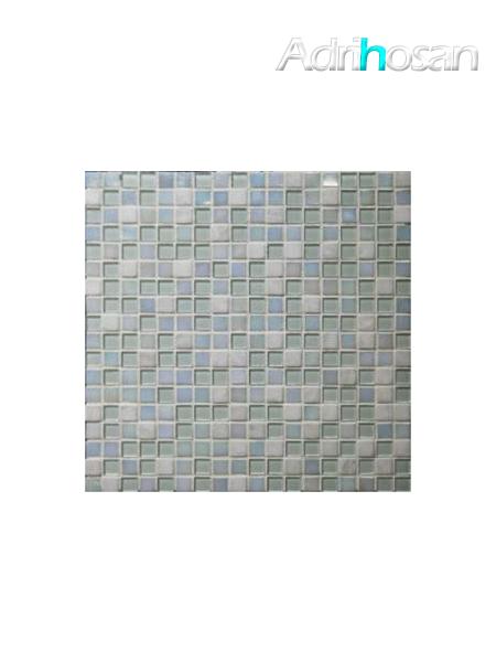 Malla de mármol y cristal Iris blanco 30x30 cm (venta por mallas)