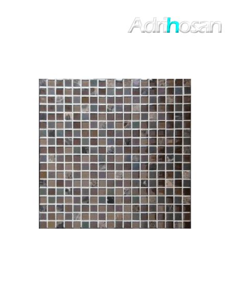 Malla de mármol y cristal Iris marrón 30x30 cm (venta por mallas)