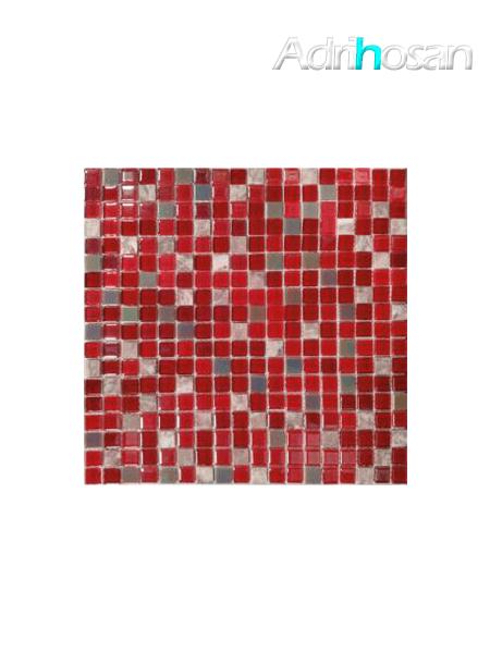 Malla de mármol y cristal Iris rojo 30x30 cm (venta por mallas)