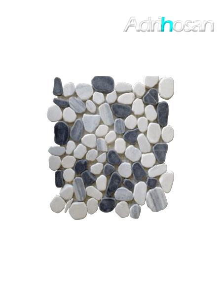 Malla de piedra canto rodado Riviera gris 30x30 cm (venta por mallas)