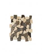 Malla de piedra canto rodado Rocaplana zebra 30x30 cm. Canto rodado aplanado de piedra natural ideal para decoraciones de platos de ducha y exteriores.