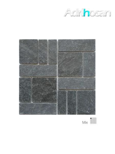Malla de pizarra Kampur negro 30x30 cm (venta por mallas)