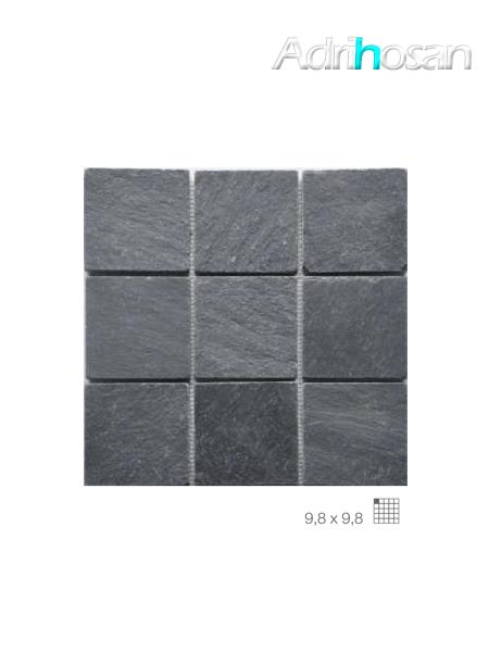 Malla de pizarra Madras negro 30x30 cm (venta por mallas)