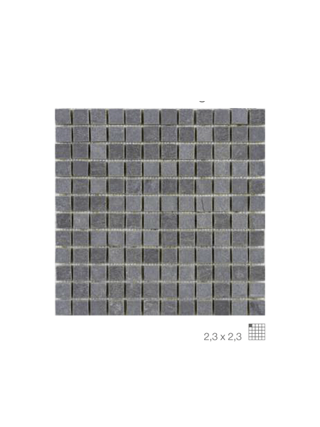 Malla de pizarra Nueva Delhi negro 30x30 cm. Malla de piedra natural ideal para decoraciones de platos de ducha y exteriores, mezclada con cristal.