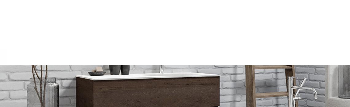 Mueble de baño suspendido Vica 100 Wood roble natural seno centrado