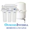 Osmosis Inversa Aqua plus cinco etapas. Agua pura en tu cocina. Un aparato que eliminará todos los residuos, sabores y olores del agua potable de tu hogar.