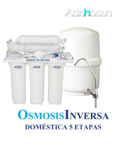 Osmosis Inversa Aqua plus cinco etapas. Agua pura en tu cocina