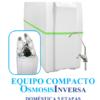 Osmosis Inversa compacto Ro-5 cinco etapas con bomba. Agua pura en tu cocina. Un aparato que eliminará todos los residuos, sabores y olores del agua potable de tu hogar.