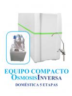 Osmosis Inversa compacto Ro-5 cinco etapas. Agua pura en tu cocina. Un aparato que eliminará todos los residuos, sabores y olores del agua potable.