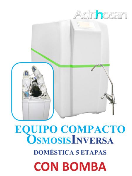 Osmosis Inversa compacto Ro-5B cinco etapas con bomba.