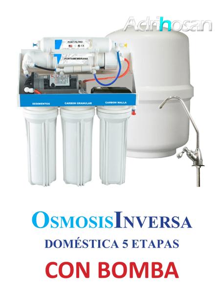 Osmosis Inversa Ro-6 cinco etapas con bomba. Agua pura en tu cocina