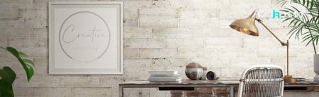 Revestimiento pasta blanca Norai White matt 7.5x30 cm. Un azulejo para revestimiento de un claro estilo retro industrial en pequeño formato.