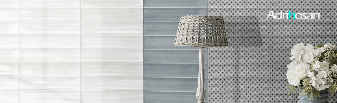 Revestimiento pasta blanca Poema 7.5x30 cm. Un azulejo para revestimiento de un claro estilo industrial en pequeño formato imitación cemento brillo.