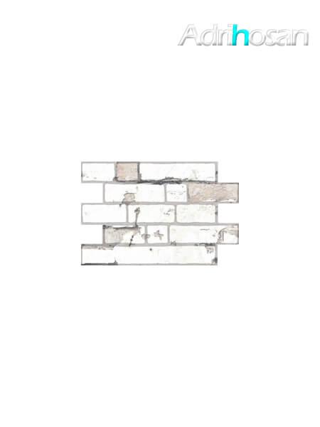 Azulejo imitación ladrillo caravista Gadea blanco 34x50 cm. Dale un toque industrial a tu nueva cocina con el revestimiento caravista blanco.
