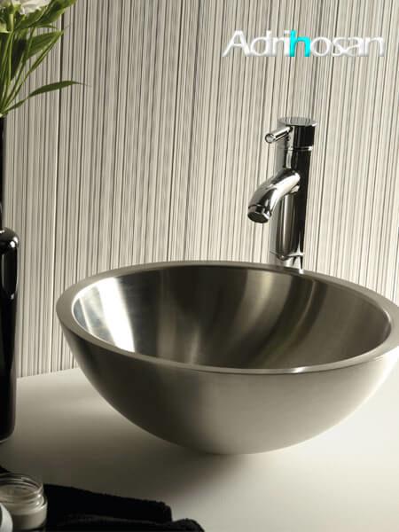 Lavabo acero tipo bowl Boccia D37 cm x 14 cm