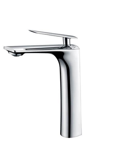 Monomando lavabo alto Kily cromo brillo. La grifería Kily se caracteriza por las suaves curvas que delimitan su contorno.
