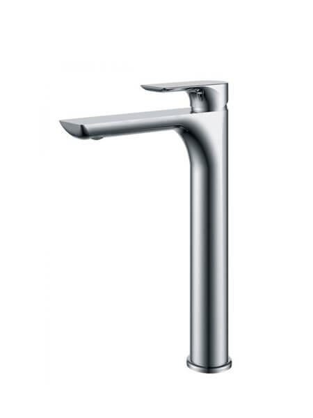 Monomando lavabo alto Tarragona cromo brillo. La grifería Tarragona se caracteriza por las suaves curvas que delimitan su contorno.