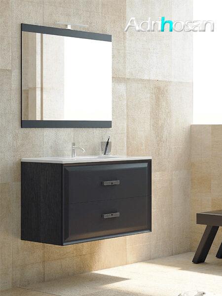 Mueble de baño suspendido 2 cajones Alda 100 cm