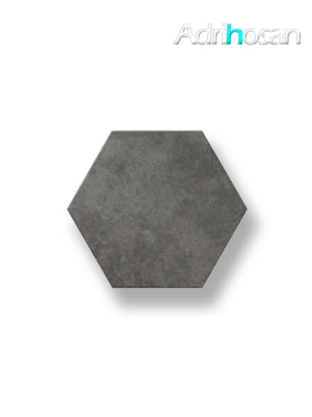 Pavimento hexagonal porcelánico Antic Grafito 25,8x29 cm (1 m2/cj)
