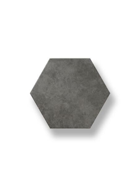 Pavimento hexagonal porcelánico Antic Grafito 25,8x29 cm. Azulejo anti hielo de alta decoración para suelos o paredes para diseños exclusivos.