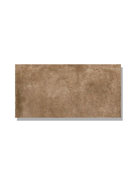 Pavimento imitación barro marrón 15x30 cm. Diseños del pasado con tecnología del presente, azulejo para paredes y suelos vintage o retro.