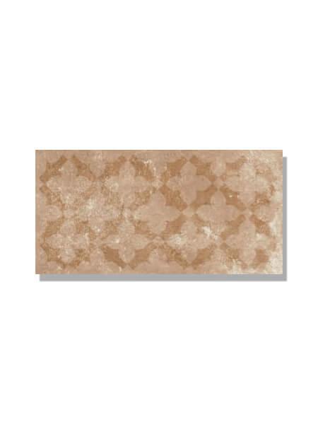 Pavimento imitación barro marrón estrella 15x30 cm. Diseños del pasado con tecnología del presente, azulejo para paredes y suelos vintage o retro.