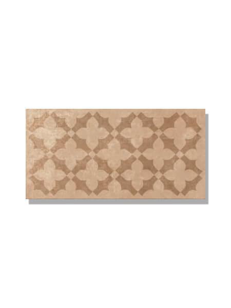 Pavimento imitación barro rojo estrella 15x30 cm. Diseños del pasado con tecnología del presente, azulejo para paredes y suelos vintage o retro.