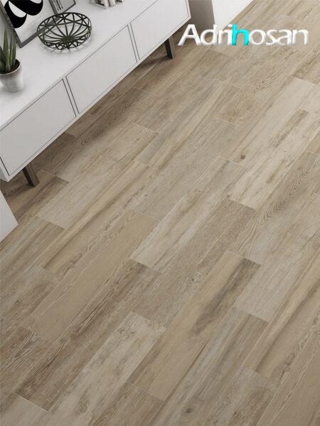 Pavimento porcelánico antideslizante Orense Oak 25x100 cm imitación madera (1.5 m2/cj)