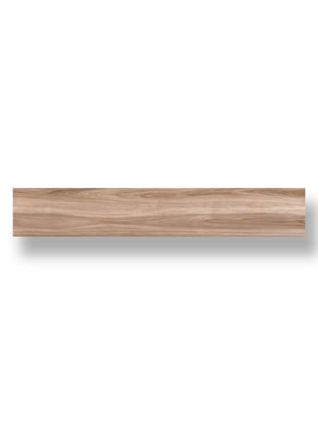 Pavimento porcelánico rectificado alto brillo Kiel haya 20x120 cm. Un azulejo para pavimento imitación madera con efecto espejo. Alto brillo.