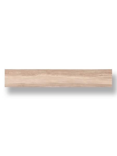Pavimento porcelánico rectificado alto brillo Kiel taupe 20x120 cm. Un azulejo para pavimento imitación madera con efecto espejo. Alto brillo.