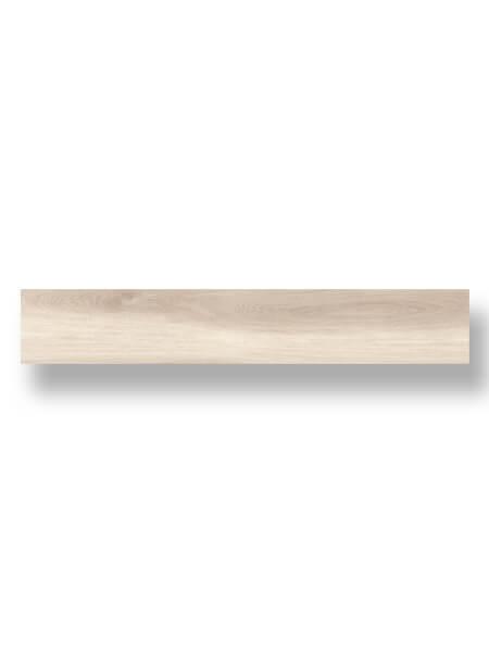 Pavimento porcelánico rectificado alto brillo Kiel marfil 20x120 cm. Un azulejo para pavimento imitación madera con efecto espejo. Alto brillo.