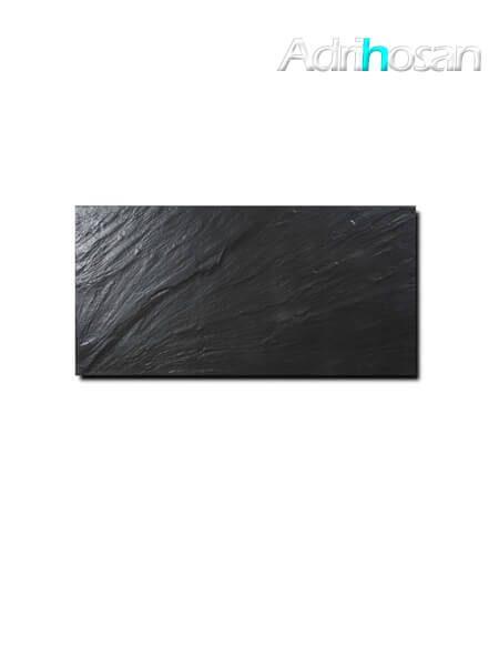 Pavimento porcelánico imitación pizarra Negro 30 x 60 cm (1.08 m2/cj)