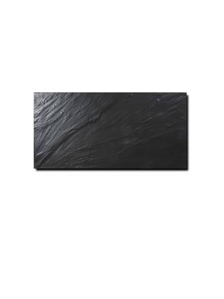 Pavimento porcelánico imitación pizarra negro 30 x 60 cm. Azulejo para suelos o paredes que imita a la pizarra natural, azulejo con relieve.