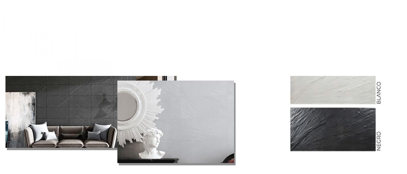 Pavimento porcelánico imitación pizarra 30 x 60 cm. Azulejo para suelos o paredes que imita a la pizarra natural, azulejo con relieve.