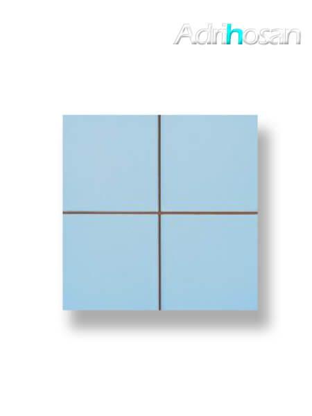 Revestimiento precorte 10x10 pasta roja liso celeste brillo 20x20 cm (1 m2/cj)