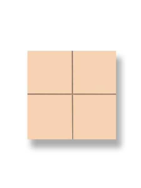 Revestimiento precorte 10x10 pasta roja liso beige brillo 20x20 cm