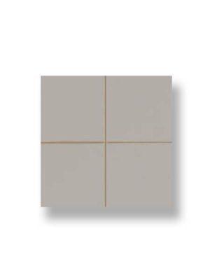 Revestimiento precorte 10x10 pasta roja liso ceniza 20x20 cm. Un azulejo fácil de instalar y que te ofrecerá el aspecto de un azulejo 10x10 cm.