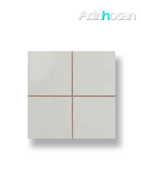 Revestimiento precorte 10x10 pasta roja liso gris mate 20x20 cm (1 m2/cj)