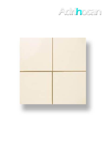 Revestimiento precorte 10x10 pasta roja liso marfil mate 20x20 cm (1 m2/cj)