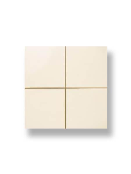 Revestimiento precorte 10x10 pasta roja liso marfil 20x20 cm. Un azulejo fácil de instalar y que te ofrecerá el aspecto de un azulejo 10x10 cm.